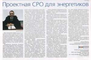Статья исполнительного директора НП «Экспертные организации электроэнергетики»